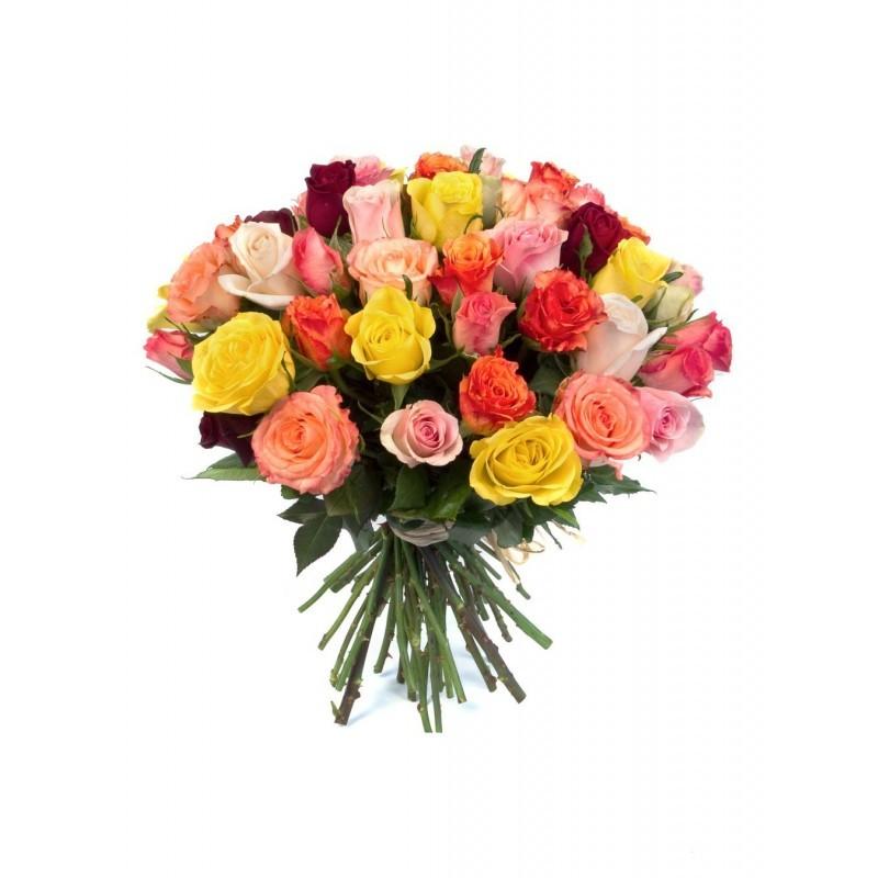 Bouquet Quenette Roses Multicolores