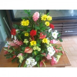 Gerbe Angélique - fleurs deuil