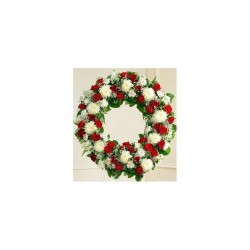 Couronne  roses rouge -...