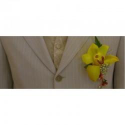 Boutonnière Orchidée -...