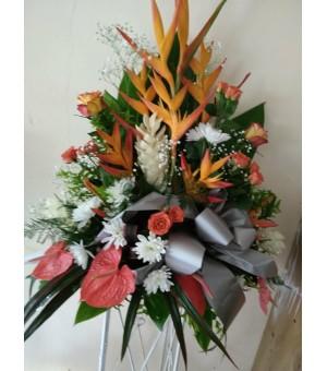 Composition florale fleurs...