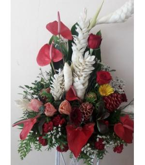 Composition de fleurs...