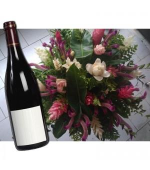 Bouquet Chou Créole + vin